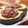 Maple Bean Stuffed Acorn Squash